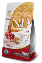 N&D ancestral grain adult cat pollo e melograno 1,5 kg