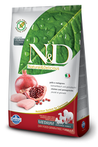 N&D grain free pollo e melograno adult medium 2,5kg