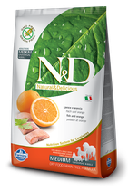 N&D grain free pesce e arancia adult medium 2,5kg