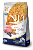 N&D ancestral grain agnello e mirtillo adult medium 2,5kg