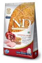 N&D ancestral grain pollo e melograno puppy maxi 12kg