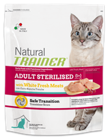 NATURAL TRAINER ADULT STERILISED CAT CON CARNI BIANCHE 1,5KG
