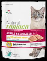 NATURAL TRAINER ADULT STERILISED CAT CON CARNI BIANCHE 1,5KG