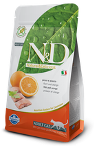 N&D grain free adult cat pesce e arancia 1,5 kg