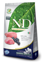 N&D grain free agnello e mirtillo adult medium 2,5kg