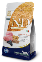 N&D ancestral grain adult cat agnello e mirtillo 1,5 kg