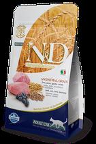 N&D ancestral grain adult cat agnello e mirtillo 1,5 kg