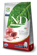 N&D farmina grain free - pollo e melograno - puppy maxi 12kg