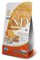 N&D ancestral grain adult cat merluzzo e arancia 1,5 kg