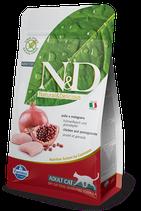 N&D grain free adult cat pollo e melograno 1,5 kg