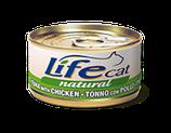 LIFE CAT TONNO CON POLLO 70G