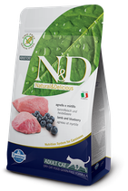 N&D grain free adult cat agnello e mirtillo 1,5kg