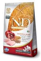 N&D ancestral grain pollo e melograno adult medium 12kg