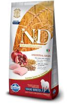N&D ancestral grain pollo e melograno adult maxi 12kg