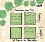 Bauerngarten zum Anpflanzen von Kräutern und Gemüse