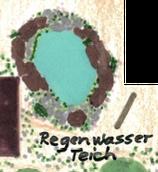 Regenwasserteich (Feuchtbiotop aus Natursteinen und Naturkautschukfolie)