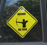 """Archer on Tour - Autoschild"""