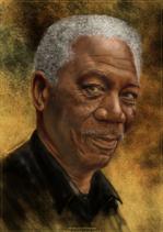 Porträt_Morgan Freeman_Papier. POR07.