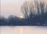Meerbusch im Winter. LAN05_Papier.
