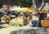 Der Markt in Aups. LAN02_Papier