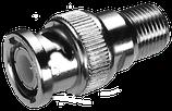 Adapter BNC-Stecker auf F-Buchse