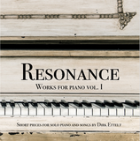 "Audio-CD ""Resonance - Works for piano vol. I"""