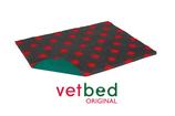Vetbed Original anthrazit mit roten Punkten