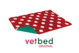 Vetbed Original rot mit weissen Punkten