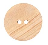Holzknopf, 2-Loch, 15 mm