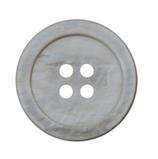 Perlmuttknopf mit Rand, 4-Loch, 15 mm
