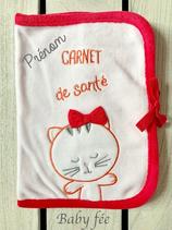 Protège-carnet de santé personnalisé chat
