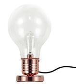 Vintage Riessen XL Glühbirne als Retro Stehlampe in Kupfer Design Tischlampe bzw. Regalleuchte als grosse LED Birne