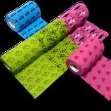 3-farbiger Motiv-Mix 5er Set LisaCare Pflasterverband 7,5cm Breite x 4,5m Länge