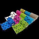 LisaCare Kohäsive Elastische Sportbandage Fixierbinde Selbsthaftend Pferdebandage - 10er Set - 10cm Breit x 4,5m dehnbar mit Motiven und Farben im Mix 2
