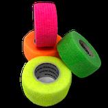 Bunter Neon-Mix 4er Set LisaCare Pflasterverband 2,5cm Breite x 4,5m Länge