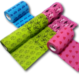 3-farbiger Motiv-Mix 5er Set LisaCare Pflasterverband 10cm Breite x 4,5m Länge
