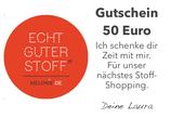 """GUTSCHEIN 2 per PDF:  """"Ich schenke Dir Zeit mit mir. Für unser nächstes Shopping."""""""