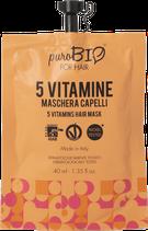 Maschera Capelli alle 5 Vitamine puroBIO for Hair