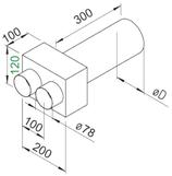 Plénum terminal droit  - FRS-WDV 2-75/105 - Flexpipe Helios