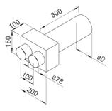 Plénum terminal droit  - FRS-WDV 2-75/125 - Flexpipe Helios