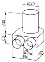 Kit plenum sol - FRS-BKGS 2-75 - Flexpipe Helios