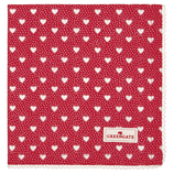 Napkin with lace Penny red(Vorbestellung/Lieferung ab KW 37)