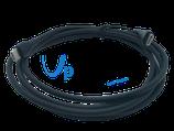Ladekabel USB-C 3.0 auf USB-C 3.0, 1,8m (Ø4mm), schwarz