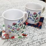 スウェーデン陶器 花柄マグカップ
