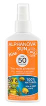 Alphanova Sonnenspray Kind ohne Nanopartikel BIO LSF50 125ml
