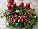 Wunderschöner Adventskranz | Rot / Grün
