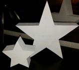 Sternpaar Massivholz weiß