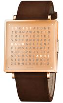 Qlocktwo W39 Copper Lederband