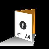 Carta Menú díptico tamaño A4