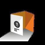 Carta Menú díptico tamaño A3